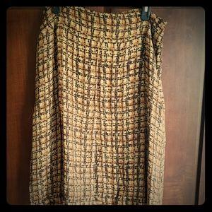 Alfani silk skirt